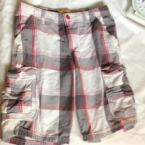 Lee Dungarees Boys Size 12R Plaid Cargo Shorts